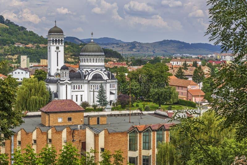 The Holy Trinity Church, Sighisoara, Romania stock images