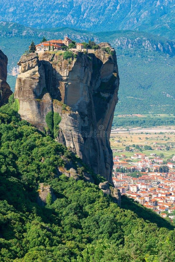 Holy Trinity Monastery at the complex of Meteora monasteries, Greece stock photos