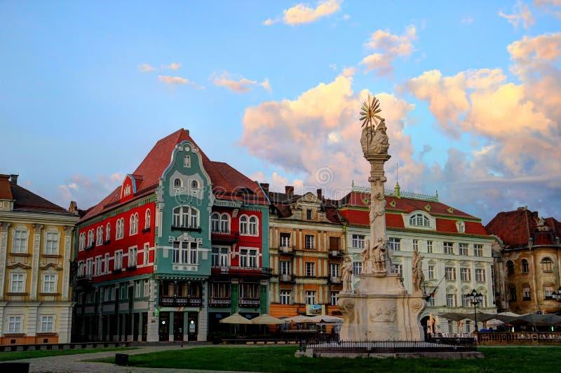 Holy Trinity Monument - Timisoara, Romania. Holy Trinity Monument, Unirii Square, Timisoara, Romania stock photo