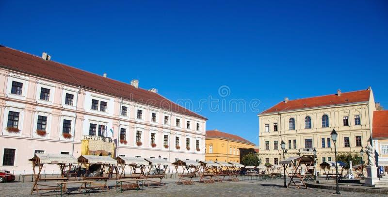 Holy Trinity Square in Osijek, Slavonia, Croatia royalty free stock photos
