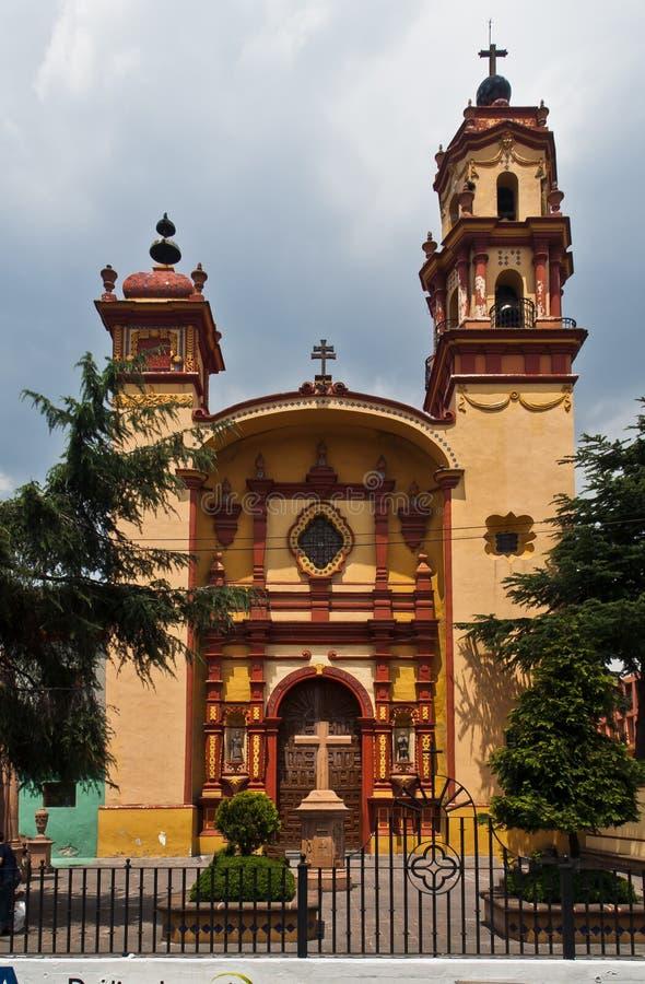 Holy Veracruz Church Toluca de Lerdo Mexico stock photo