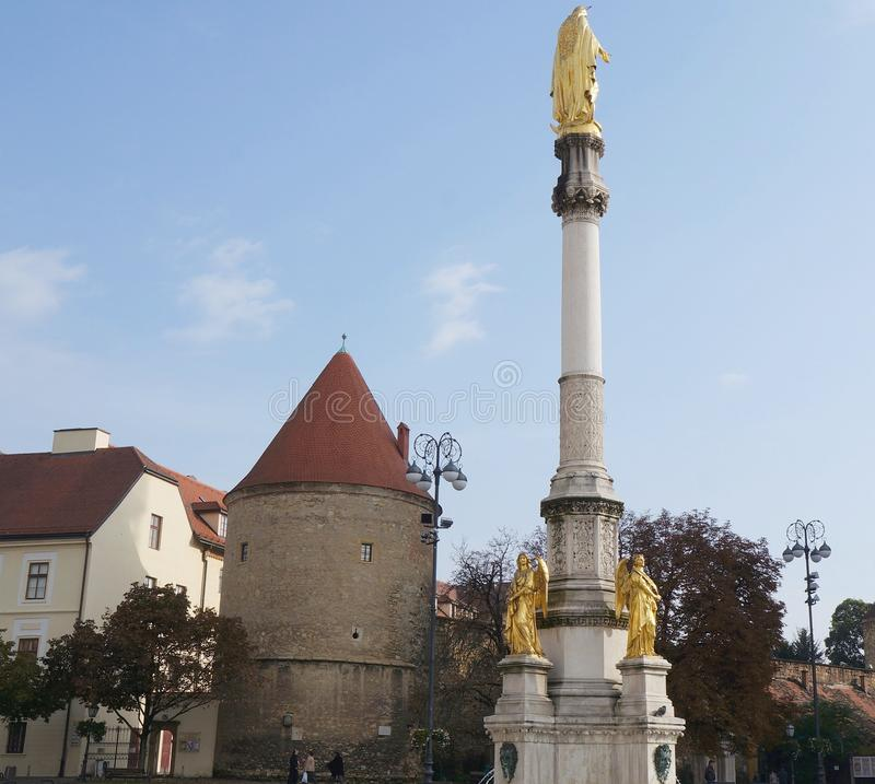 Free Holy Virgin Mary Column In Zagreb Stock Image - 92655341
