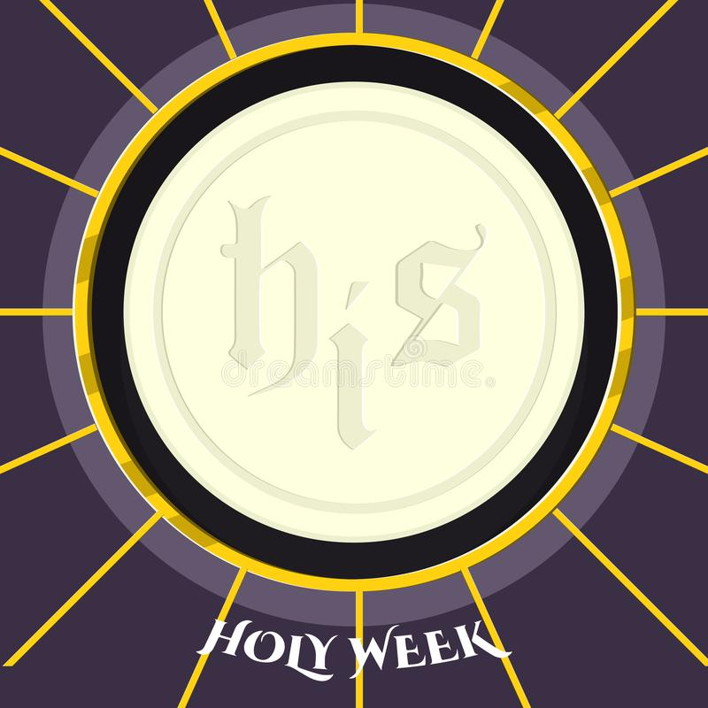 Holy week banner with a host. Vector illustration design royalty free illustration