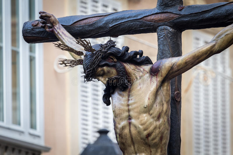 Holy Week in Cadiz,Spain. Christ of Mercy and Our Lady of Tears, La Piedad. Christ of Mercy and Our Lady of Tears, La Piedad. This Brotherhood goes in stock photography