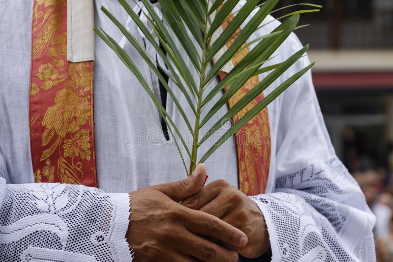 Holy Week Palm Sunday. Holy Week. Traditional Catholic celebration Palm Sunday. Christian faith royalty free stock image