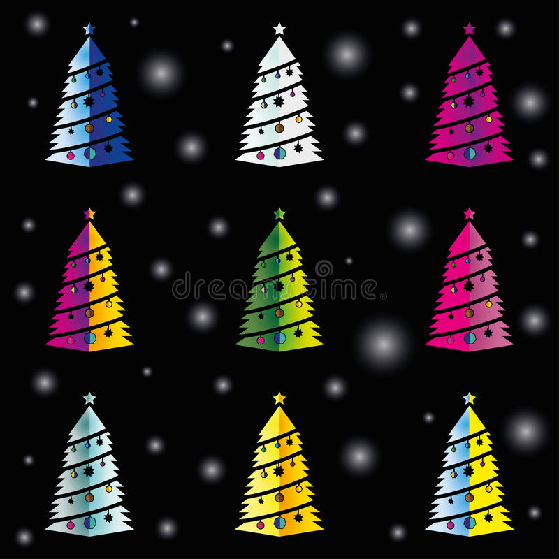 Holiday tree pattern color stock photography