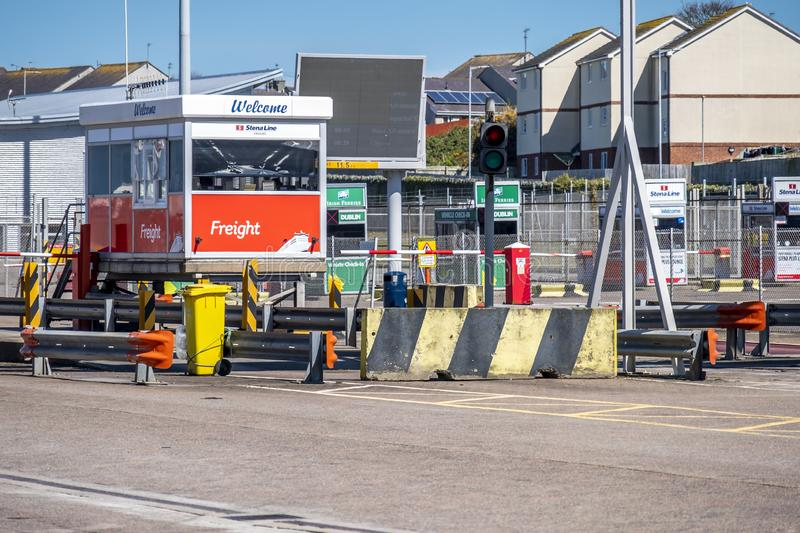 Border Control Checking The Immigration At Harbour Editorial