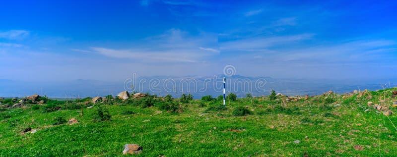 Holyland serie - wzgórze golan panorama obrazy stock
