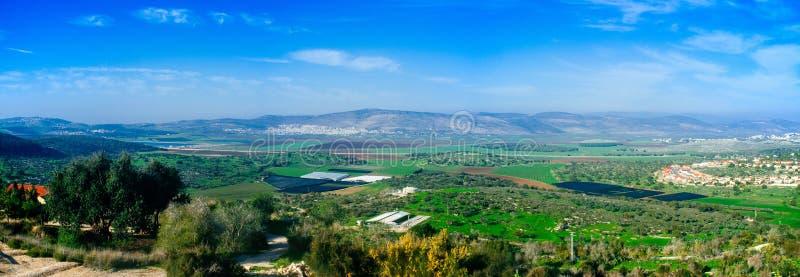 Holylandreeks - Lagere Galilee Panorama#1 stock fotografie