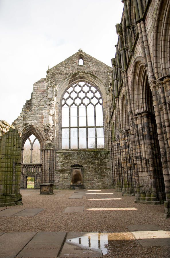 Holyrood pałac Unrestored zdjęcie royalty free