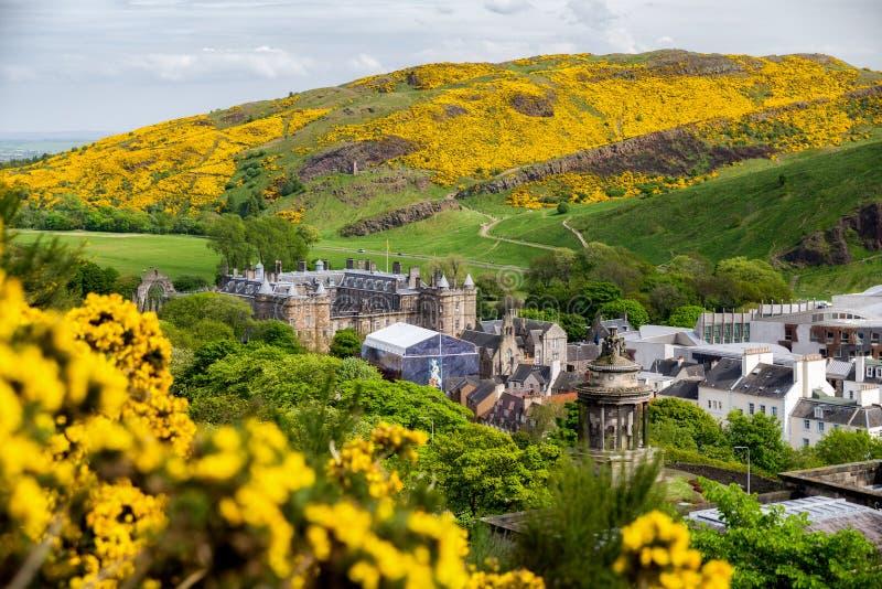 Holyroodhouse slott i Edinburg fotografering för bildbyråer