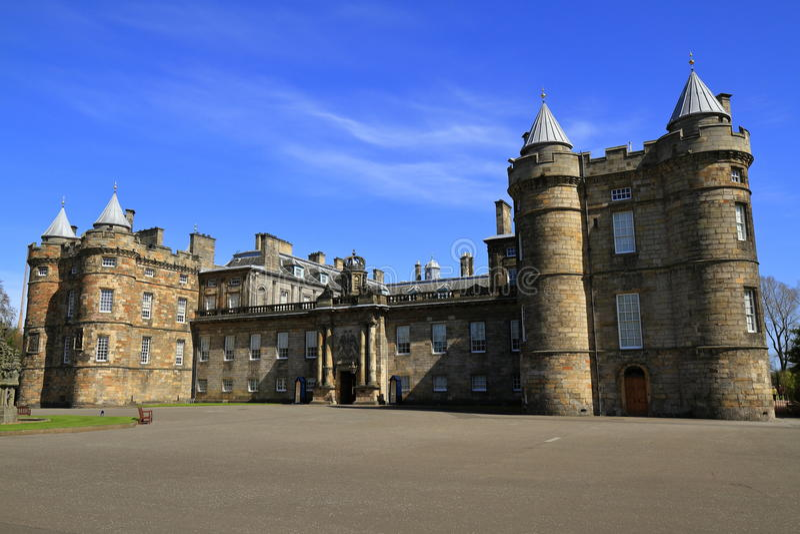 Holyroodpaleis in Edinburgh, Schotland stock fotografie