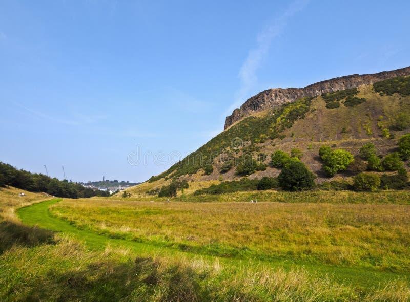 Holyroodpark in Edinburgh royalty-vrije stock afbeelding