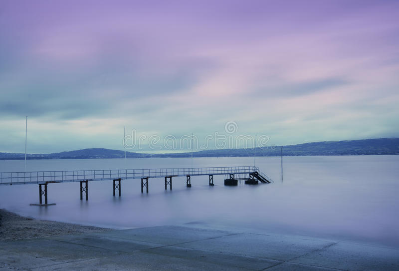 Holywood Pier. At sun set royalty free stock photography