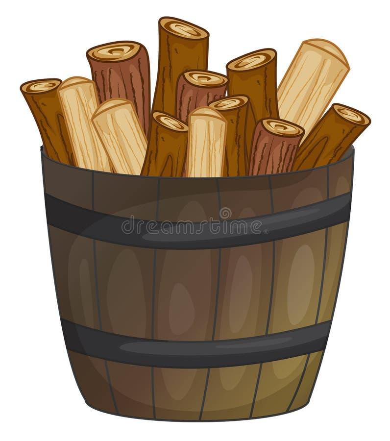 Holz stock abbildung