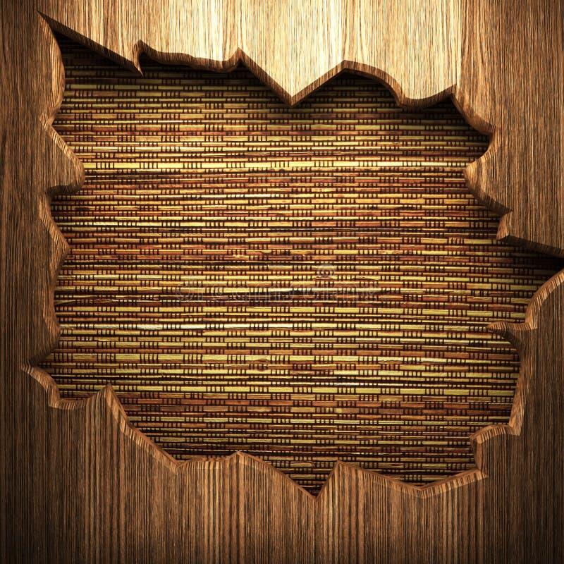 Holz auf der Wand stock abbildung