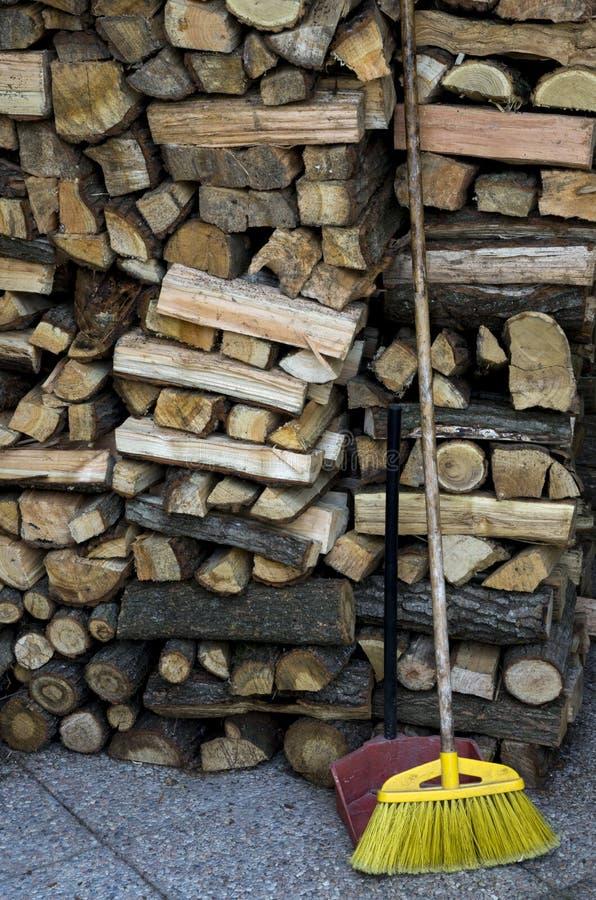 Holz für das Brennholz stockfotografie