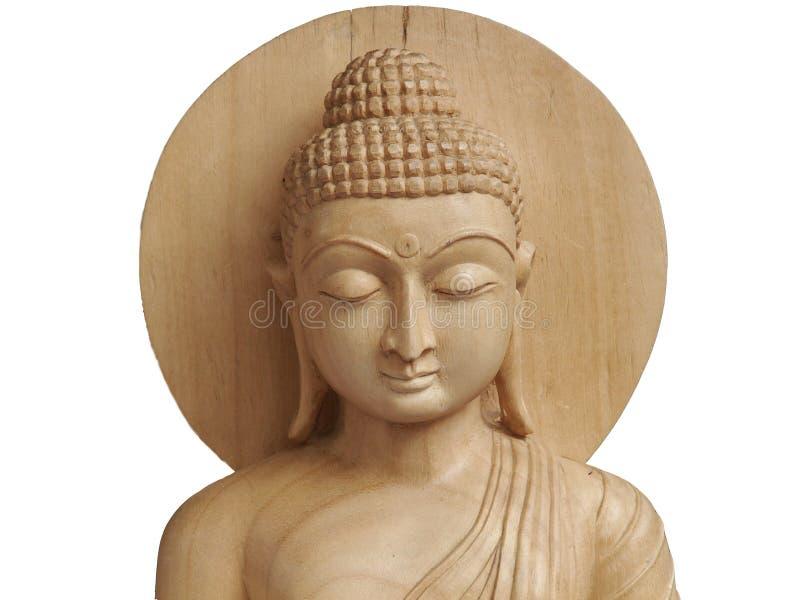 Holz geschnitzter Buddha lizenzfreie stockfotografie