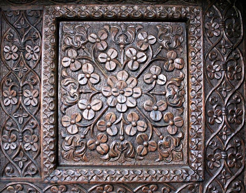 Holz gestaltete Tür lizenzfreie stockfotos