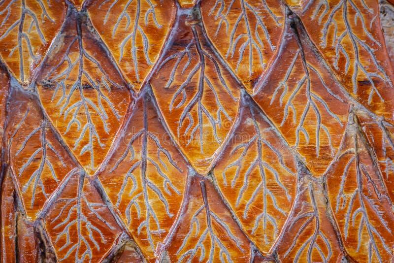 Holz schnitzt von der Blattbeschaffenheit stockbild