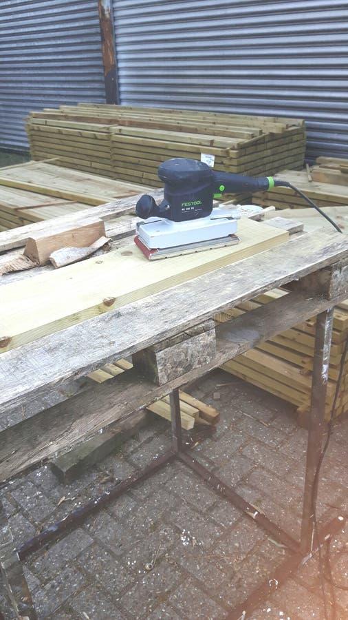 Holzarbeitbank stockfotos