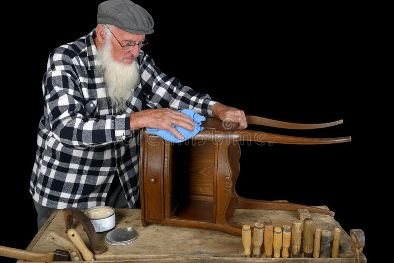 Holzbearbeitung drei stockbild