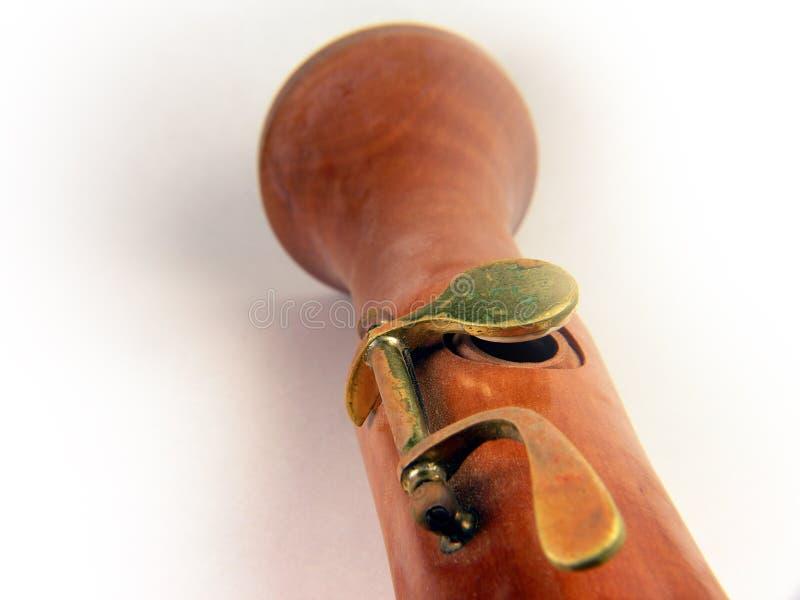 Holzblasinstrument-Taste stockfoto