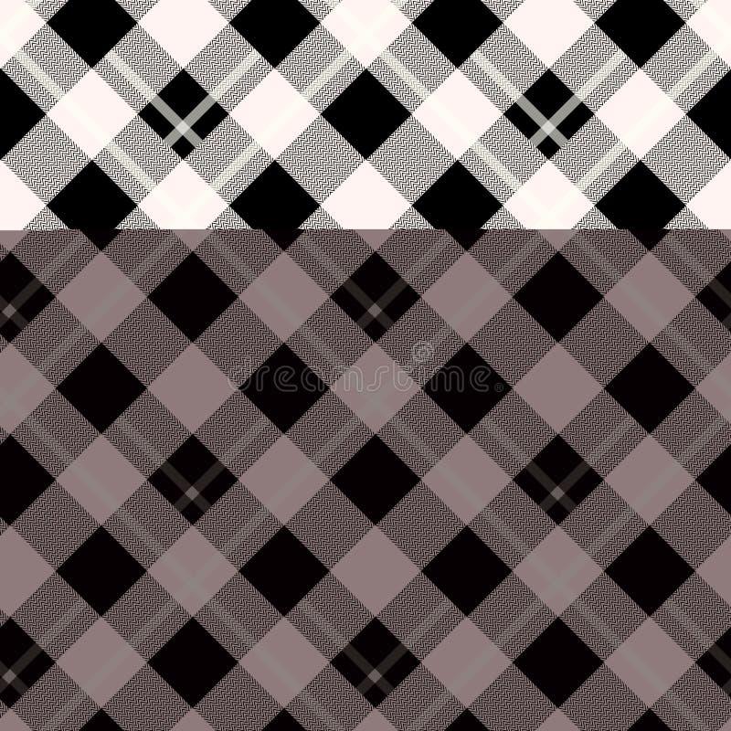 Holzfällerplaid Schottisches Muster im weißen und schwarzen Käfig Schottischer Käfig Büffelkontrolle Traditionelle schottische Ve stockfotografie
