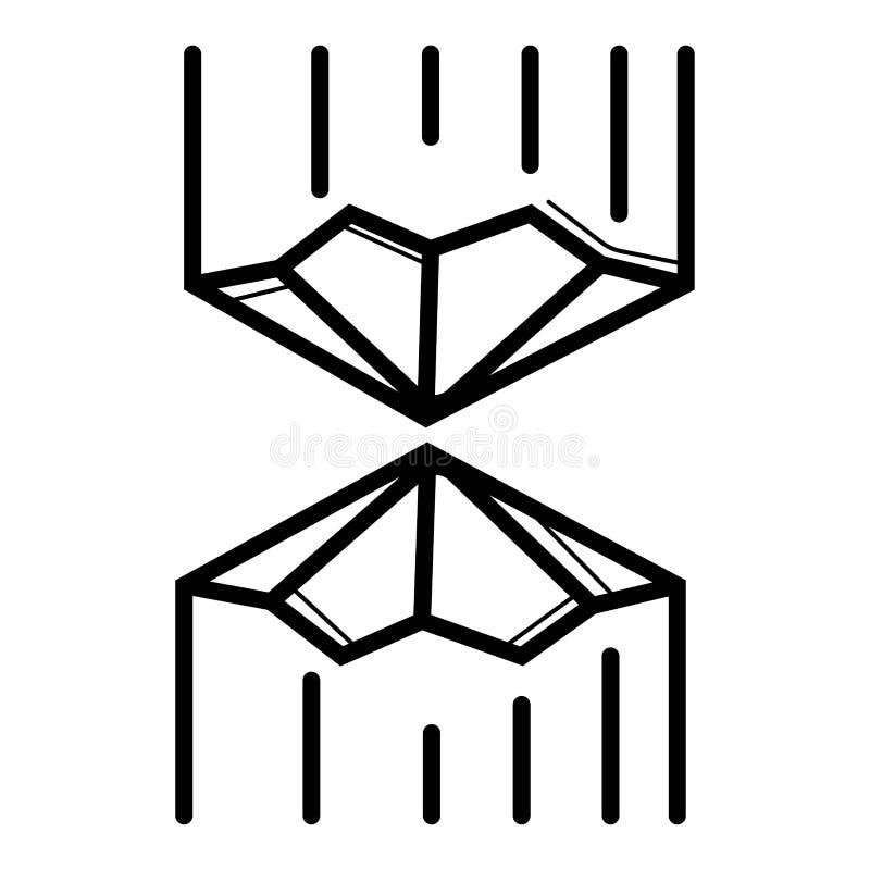 Holzfällervektor-Ikonensymbol lizenzfreie abbildung