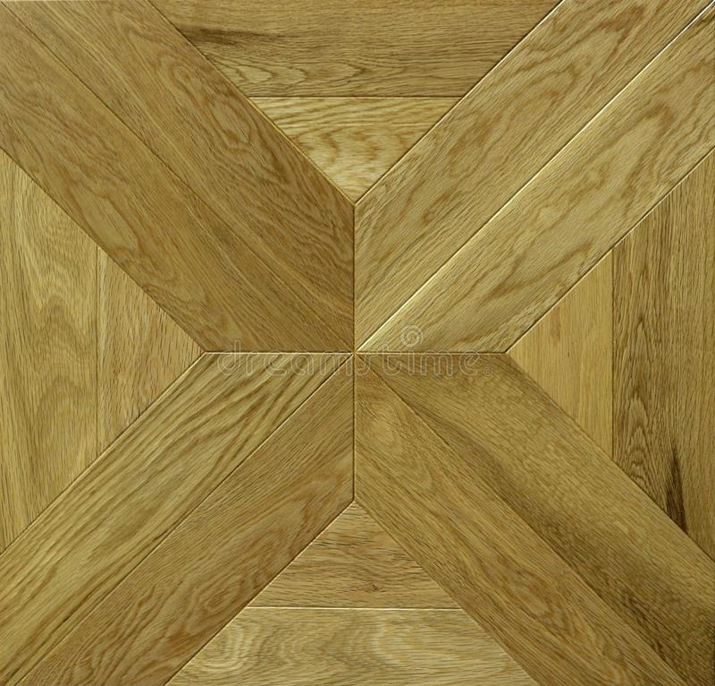 Holzfußbodenfliese Geometrische Form für Parkettmuster lizenzfreie stockfotografie