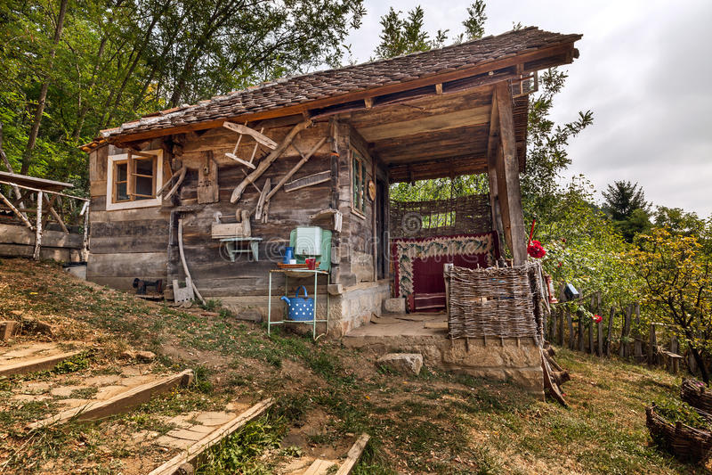 Holzhaus stockfotografie
