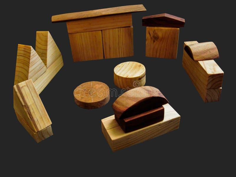 Holzklötze spielen auf Farbenreinheitsschlüsselhintergrund ohne Schatten stockfotografie