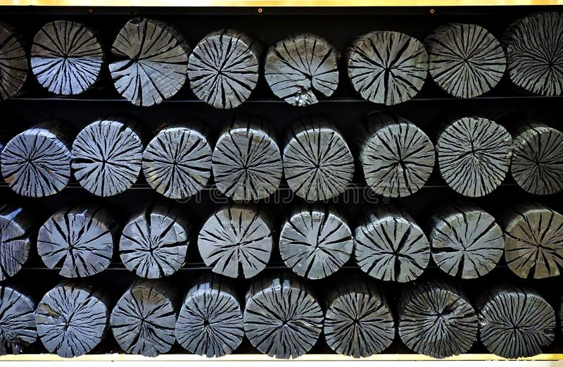 Holzkohle für Dekoration lizenzfreies stockbild