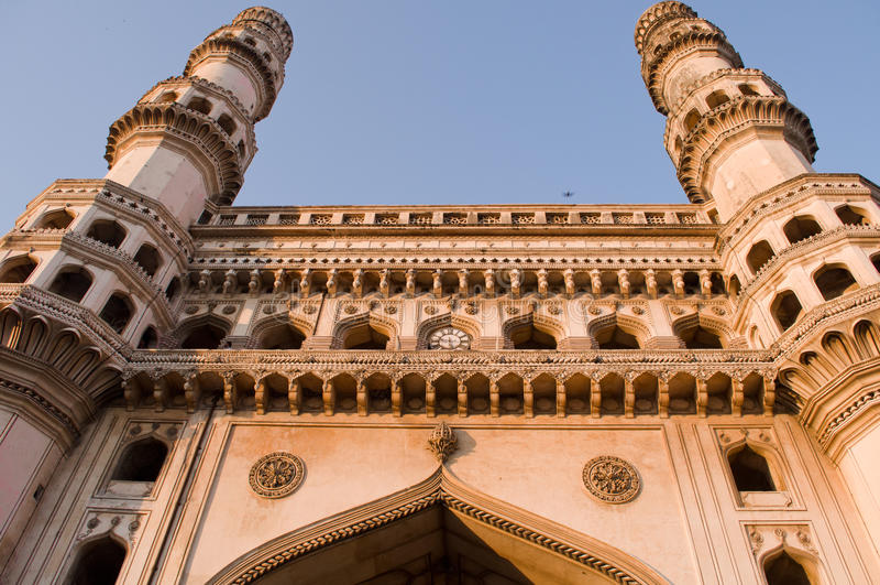 Holzkohle Minar - bezauberndes Hyderabad stockfoto