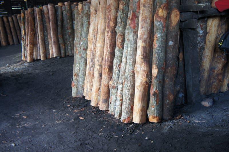Holzkohlen-Fabrik, Malaysia lizenzfreie stockbilder