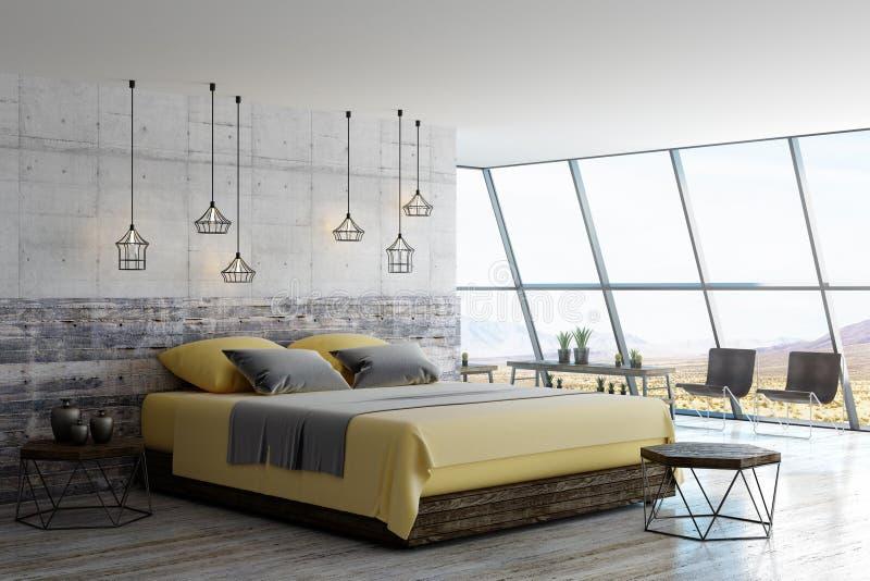 Holzmöbel- und Dachbodenart vektor abbildung