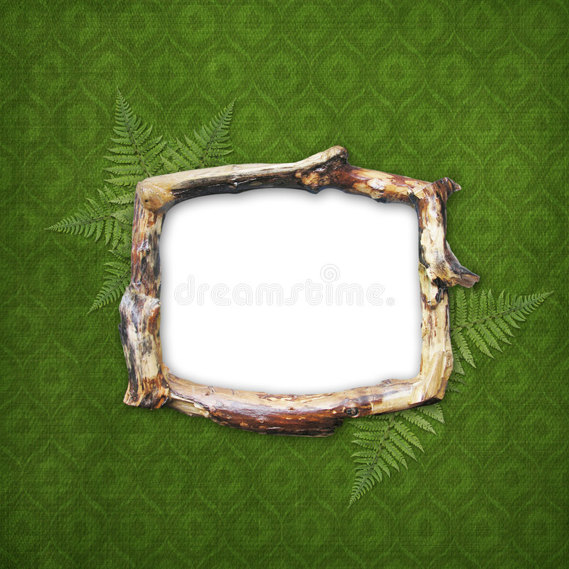Holzrahmen für Abbildung oder Foto lizenzfreie abbildung