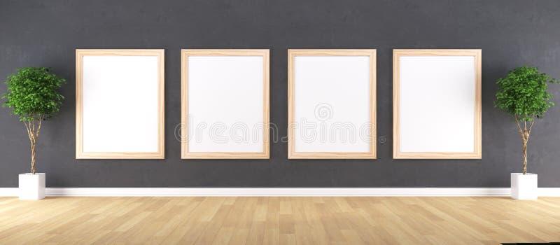 Holzrahmen mit Plakat-Modell lizenzfreies stockfoto