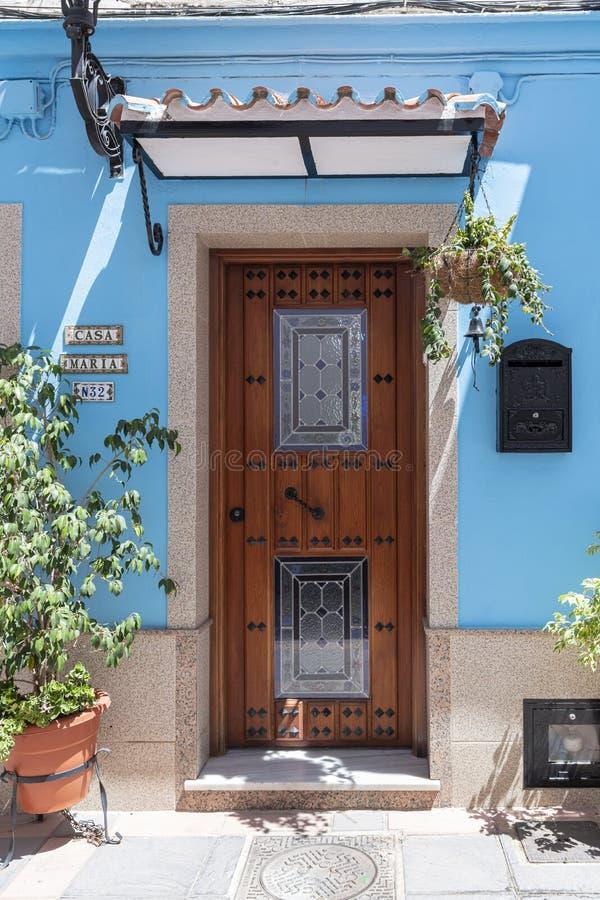 Holzstraße Fuengirola Spanien stockfotos
