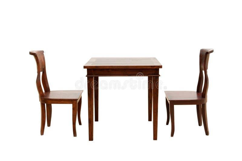 Holzstuhl und Tabelle lizenzfreies stockfoto