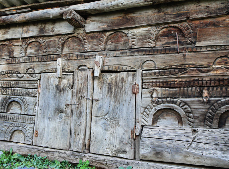 Holztür lizenzfreies stockbild