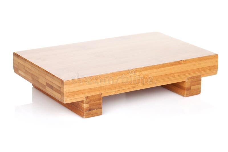 Holztisch für japanisches Lebensmittel lizenzfreie stockbilder