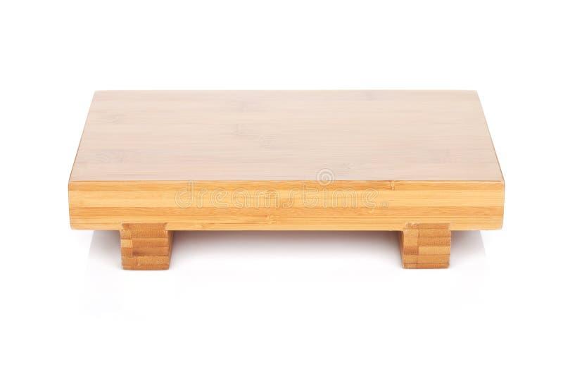 Holztisch für japanisches Lebensmittel lizenzfreies stockfoto