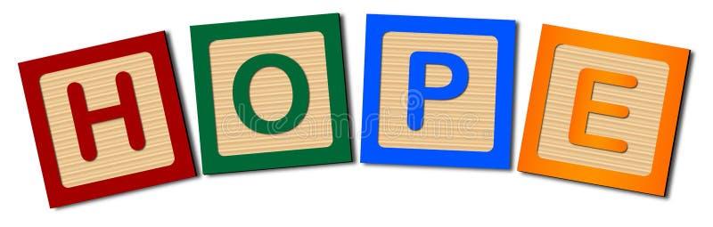 Holztype-Hoffnung vektor abbildung