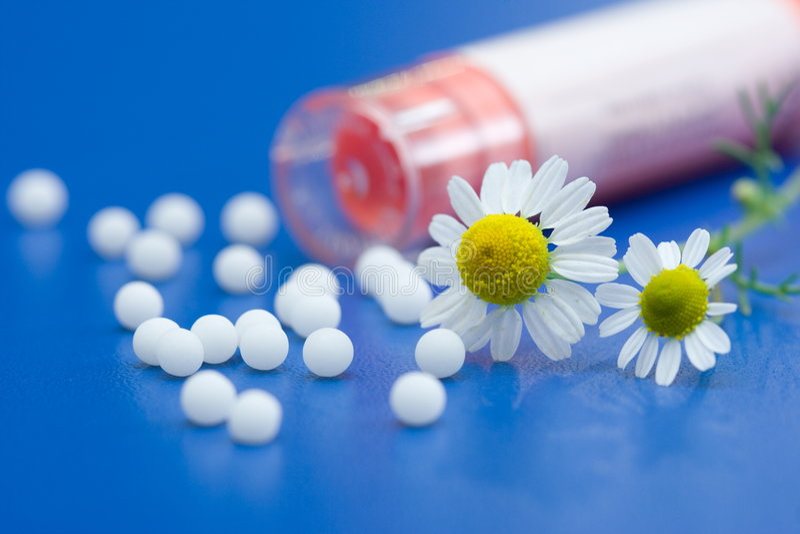 Homöopathische Medikation lizenzfreies stockbild