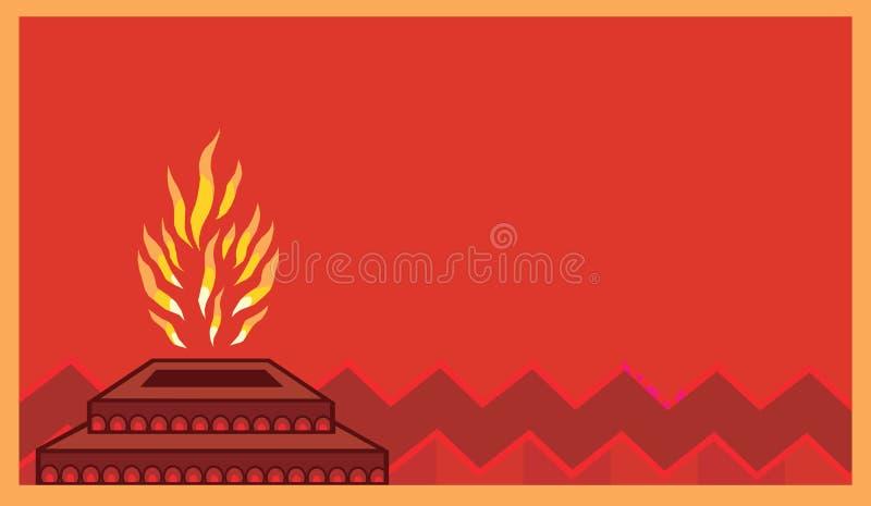 Homa avec des flammes illustration libre de droits