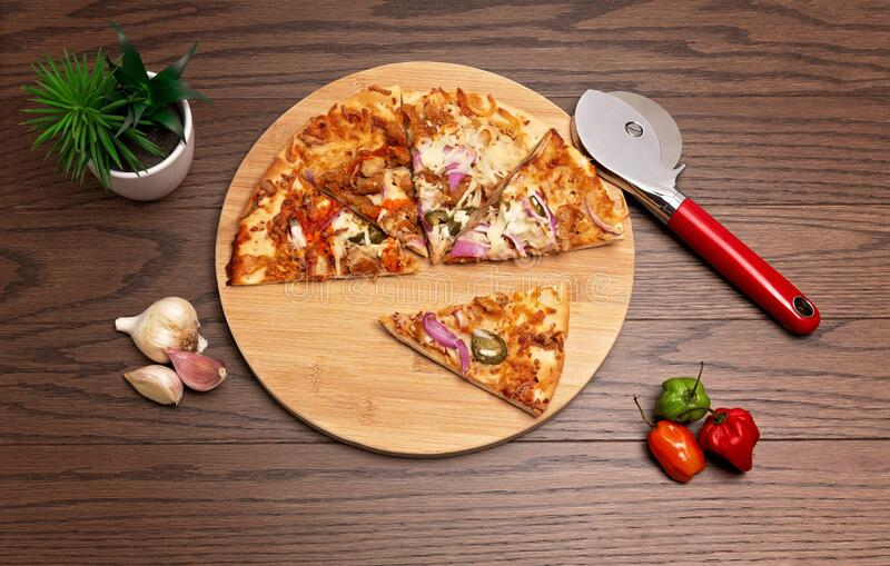 Homade pizza 2 royalty free stock image
