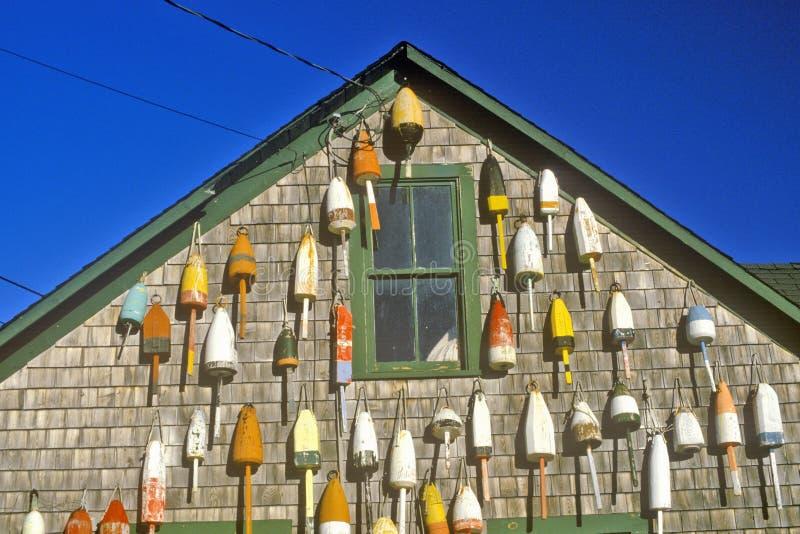 Homar pociesza na stronie budynek w Muscongus zatoce w Nowym Ukrywa JA zdjęcie stock