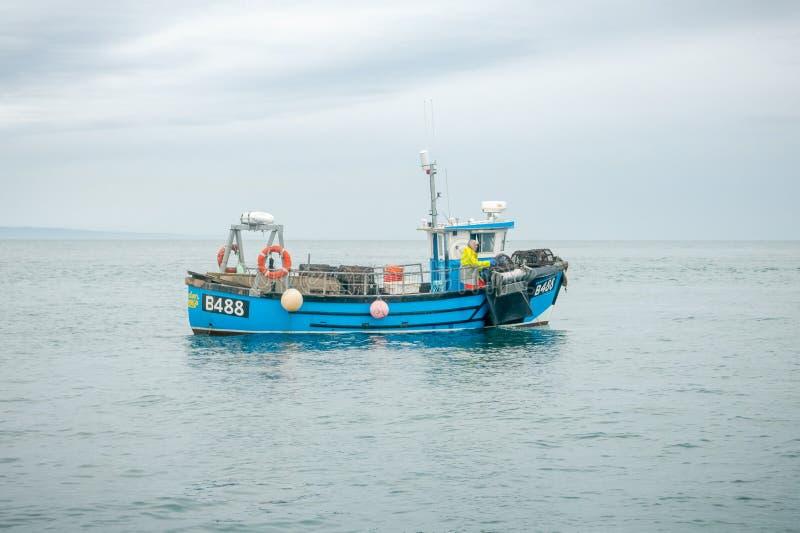 Homara trawler, Larne Lough, Północny - Ireland zdjęcie stock