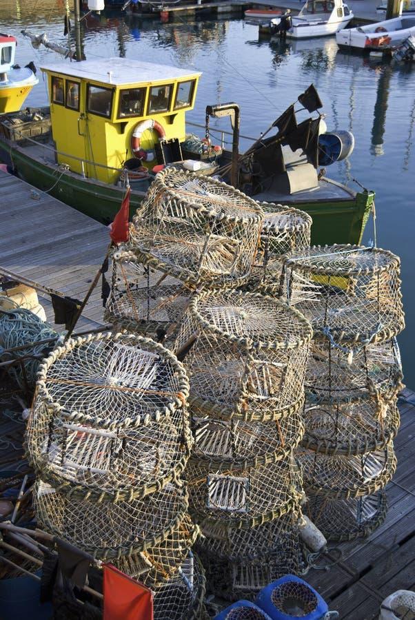 homary łodzi połowów więcierze zdjęcie royalty free